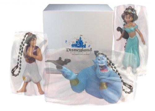 """アラジン ジャスミン ディズニープリンセス Disney Aladdin """"Aladdin, Genie & Jasmine"""" 3 pc. Keychain/Dangler Set - Limited Availabilityアラジン ジャスミン ディズニープリンセス"""