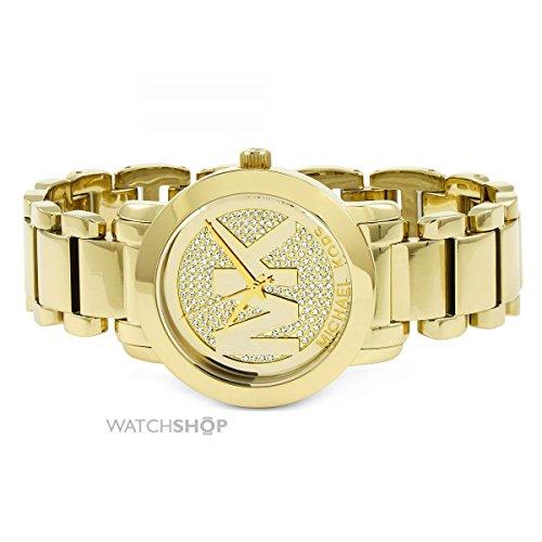 68ff9972fc0a マイケルコース 腕時計 レディース マイケル・コース アメリカ直輸入 Michael Kors Runway Crystal Pave Dial  Gold Stainless Steel Ladies Watch MK3376マイケル ...