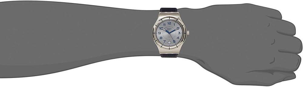 スウォッチ 腕時計 メンズ YIS409 Swatch Men's Irony YIS409 Blue Rubber Swiss Automatic Fashion Watchスウォッチ 腕時計 メンズ YIS409