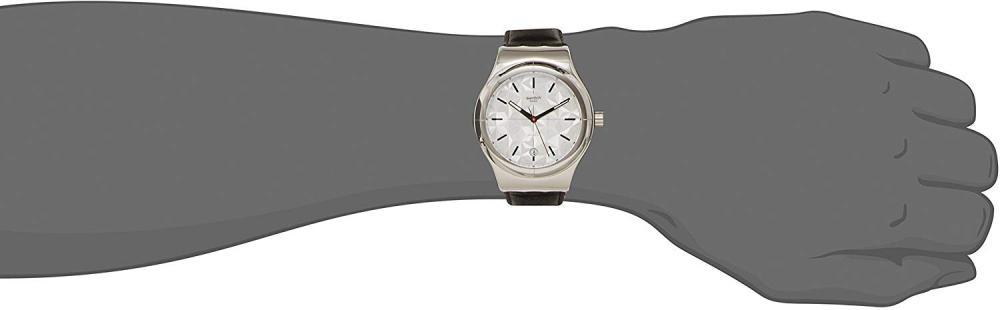 スウォッチ 腕時計 メンズ YIS408 Swatch Men's Irony YIS408 Black Leather Automatic Fashion Watchスウォッチ 腕時計 メンズ YIS408