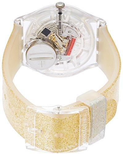スウォッチ 腕時計 レディース GE242C Swatch Originals Sunblush Gold Dial Silicone Strap Unisex Watch GE242Cスウォッチ 腕時計 レディース GE242C