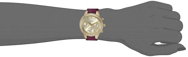 ブローバ腕時計レディース44L182CaravelleNewYorkWomen'sQuartzStainlessSteelandLeatherCasualWatch,Color:Purple(Model:44L182)ブローバ腕時計レディース44L182