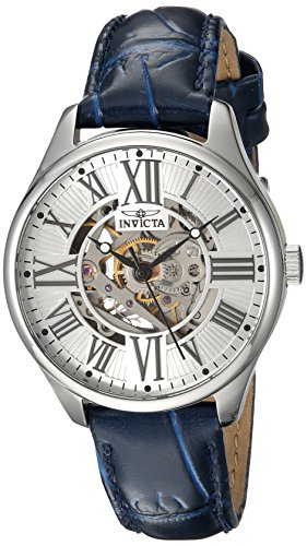インヴィクタ インビクタ 腕時計 レディース 23658 Invicta Women's Vintage Stainless Steel Automatic-self-Wind Watch with Leather Calfskin Strap, Blue, 16 (Model: 23658インヴィクタ インビクタ 腕時計 レディース 23658