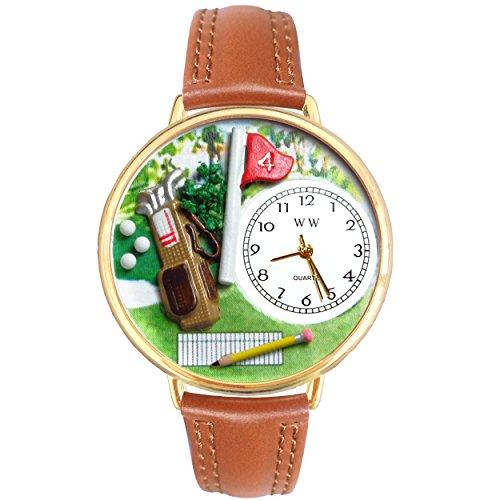 気まぐれな腕時計 かわいい プレゼント クリスマス ユニセックス Golf Bag Tan Leather And Goldtone Watch #WG-G0810002気まぐれな腕時計 かわいい プレゼント クリスマス ユニセックス