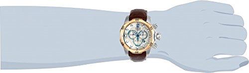 【当店1年保証】インヴィクタInvicta Men's 'JT' Quartz Stainless Steel and Leather Casual Watch, Color:Brown (Model: