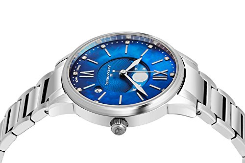 フレデリックコンスタント フレデリック・コンスタント 腕時計 レディース AD204B-02 Alexander Monarch Vassilis Moon Phase Date 35 MM Blue Mother of Pearl DIAMOND Face Watch Fフレデリックコンスタント フレデリック・コンスタント 腕時計 レディース AD204B-02