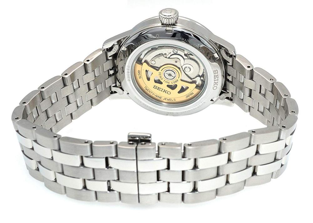 """セイコー 腕時計 メンズ SSA341J1 SEIKO PRESAGE Power Reserve Silver Cocktail Time """"Martini"""" SSA341J1セイコー 腕時計 メンズ SSA341J1"""