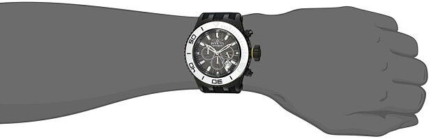 【当店1年保証】インヴィクタInvictaMen's'Subaqua'QuartzStainlessSteelandSiliconeCasualWatch,Color:Black(M