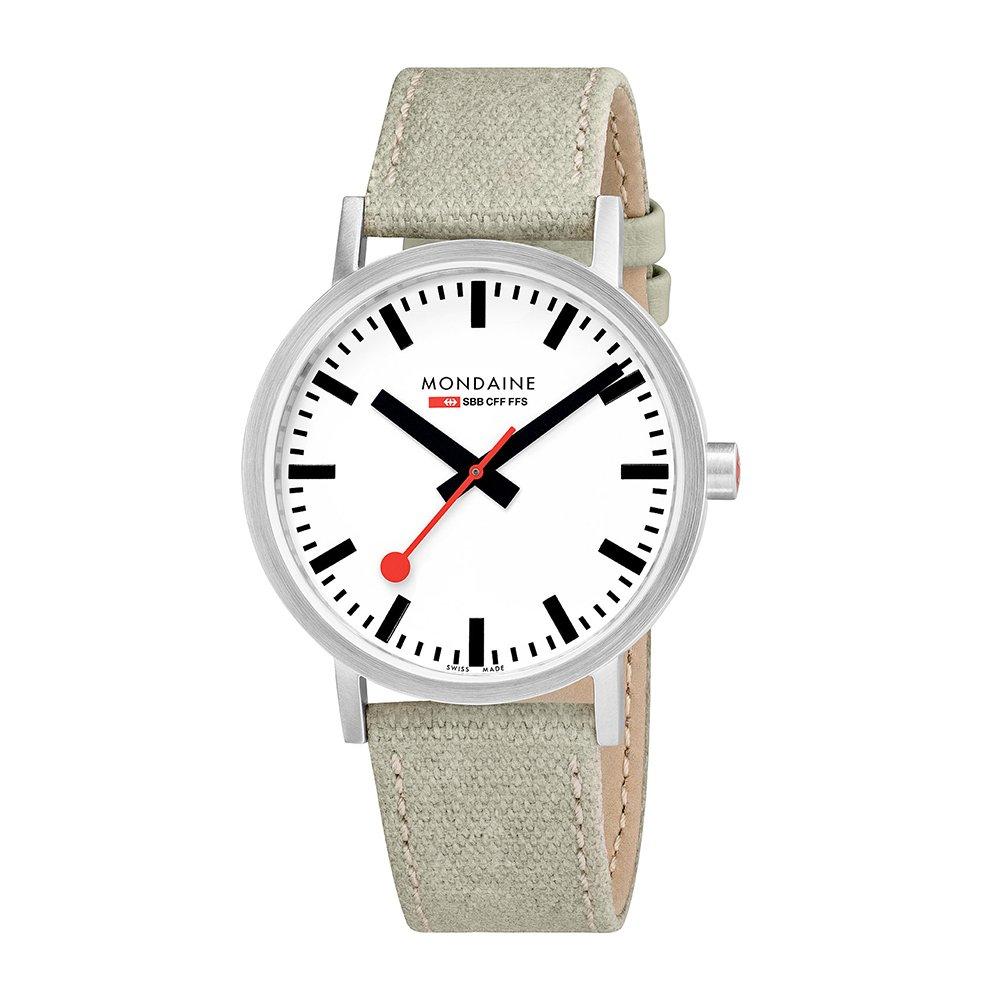 【当店1年保証】ルミノックスMondaine 'SBB' Swiss Quartz Stainless Steel and Canvas Casual Watch, Color:Champagne (Mo