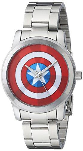 マーベルコミック アメコミ 腕時計 メンズ W001780 Marvel Men's W001780 The Avengers Captain America Analog-Quartz Silver Watchマーベルコミック アメコミ 腕時計 メンズ W001780