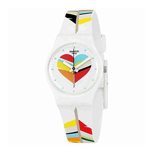 スウォッチ 腕時計 レディース LW151 Swatch Women's Es War Zeimal LW151 White Rubber Swiss Quartz Fashion Watchスウォッチ 腕時計 レディース LW151