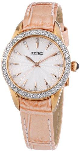 セイコー 腕時計 レディース SRZ388P1 Seiko White Dial Rose Gold-Tone Stainless Steel Ladies Watch SRZ388セイコー 腕時計 レディース SRZ388P1