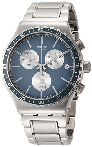 スウォッチ 腕時計 メンズ YVS438G Swatch Ironfreeze Blue Dial Mens Chronograph Steel Watch YVS438Gスウォッチ 腕時計 メンズ YVS438G