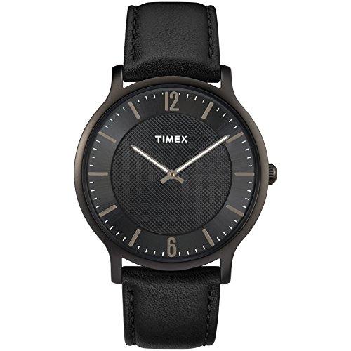 タイメックス 腕時計 メンズ TW2R50100 Timex Men's TW2R50100 Metropolitan 40mm Black Leather Strap Watchタイメックス 腕時計 メンズ TW2R50100