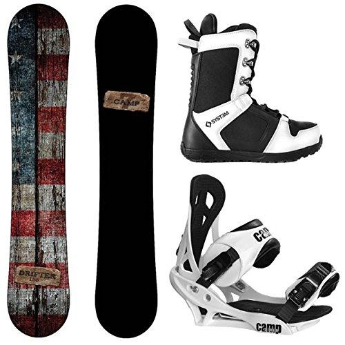 スノーボード ウィンタースポーツ キャンプセブン 2017年モデル2018年モデル多数 Camp Seven Drifter and Summit Men's Complete Snowboard Package New (156 cm, Boot Size 10)スノーボード ウィンタースポーツ キャンプセブン 2017年モデル2018年モデル多数