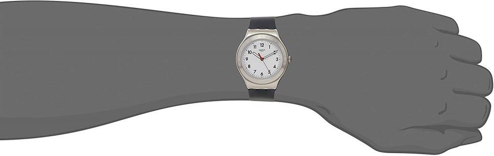 【当店1年保証】スウォッチSwatch Black Reflexion White Dial Unisex Rubber Watch YGS135