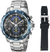 【当店1年保証】セイコーSeikoMen's'CHRONOGRAPH'QuartzStainlessSteelCasualWatch,Color:Silver-Toned(Model:SSC6