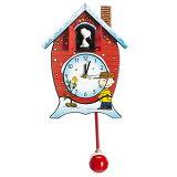 【送料無料】マークフェルドスタイン ピーナッツ クリスマス カッコウ時計 スヌーピー 鳩時計 壁掛け時計 振り子時計 ギフト Mark Feldstein CKPNX