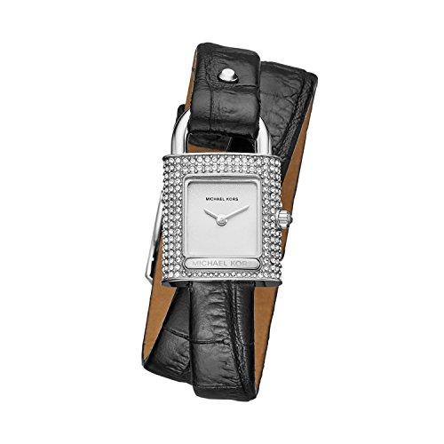 マイケルコース 腕時計 レディース マイケル・コース アメリカ直輸入 MK2705 Michael Kors Women's Isadore Watch Stainless Steel Analog-Quartz Leather Calfskin Strap, Black, 14 (Model:マイケルコース 腕時計 レディース マイケル・コース アメリカ直輸入 MK2705