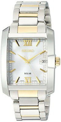 【当店1年保証】セイコーSeikoMen's'SOLARDIAMOND'QuartzStainlessSteelCasualWatch,Color:TwoTone(Model:SNE463