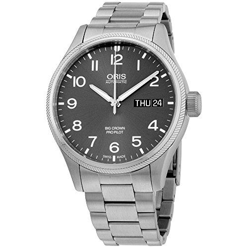 オリス 腕時計 メンズ Oris Grey Dial Stainless Steel Men's Watch 75276984063MBオリス 腕時計 メンズ