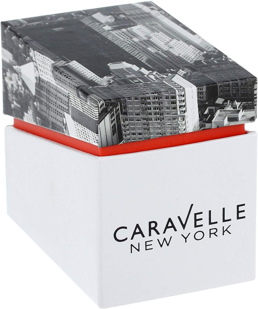 【当店1年保証】ブローバCaravelle New York by Bulova Women's 45L143 Analog Display Japanese Quartz White Watch