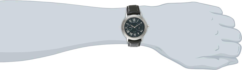 レイモンドウィル 腕時計 メンズ スイスの高級腕時計 2846-STC-00209 Raymond Weil Men's 2846-STC-00209 Maestro Stainless Steel Automatic Watch With Black Faux-Leather Bandレイモンドウィル 腕時計 メンズ スイスの高級腕時計 2846-STC-00209