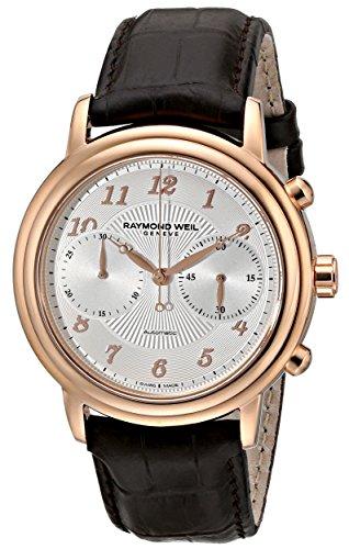 レイモンドウィル 腕時計 メンズ スイスの高級腕時計 4830-PC5-05658 Raymond Weil Men's 4830-PC5-05658 Maestro Rose Gold-Tone Staレイモンドウィル 腕時計 メンズ スイスの高級腕時計 4830-PC5-05658