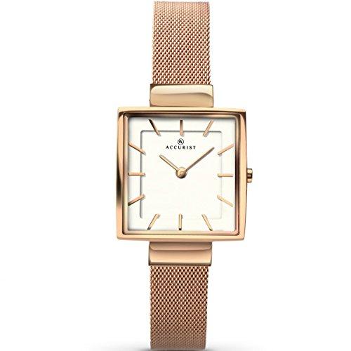 アキュリスト 腕時計 レディース イギリス ロンドン 8132 Accurist Ladies Analogue Watch With White Dial And Rose Gold Bracelet 8132アキュリスト 腕時計 レディース イギリス ロンドン 8132