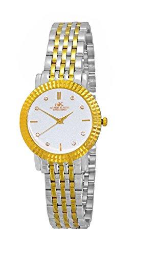 アディーケイ 腕時計 レディース アメリカ LA AK4801-LTTG Swiss Stainless Steel & Crystal Watch Design by Adee Kaye-Two tone, Silver & Gold tone/Silver dialアディーケイ 腕時計 レディース アメリカ LA AK4801-LTTG