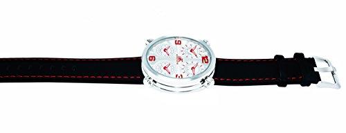 """アディーケイ 腕時計 メンズ アメリカ LA Adee Kaye Mens """"Circuit"""" 4 Time Zone Watch-Silver tone/Silver red dialアディーケイ 腕時計 メンズ アメリカ LA"""