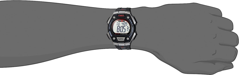 【当店1年保証】タイメックスTimex Men's TW5K85900 Ironman Classic 50 Full-Size Black/Gray/Red Resin Strap Watch