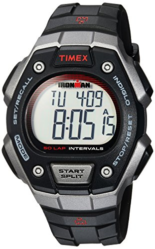 【当店1年保証】タイメックスTimex Men's TW5K85900 Ironman Classic 50 Full-Size Black/Gray/Red Resin Strap Watch