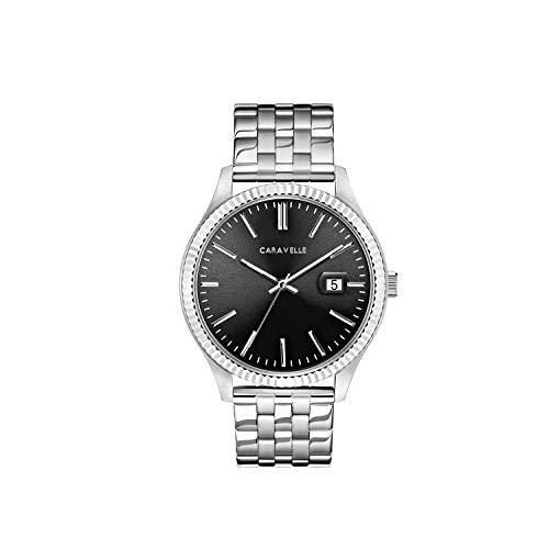 ブローバ 腕時計 メンズ Caravelle Men's Quartz Watch with Stainless-Steel Strap, Silver, 20 (Model: 43B157ブローバ 腕時計 メンズ