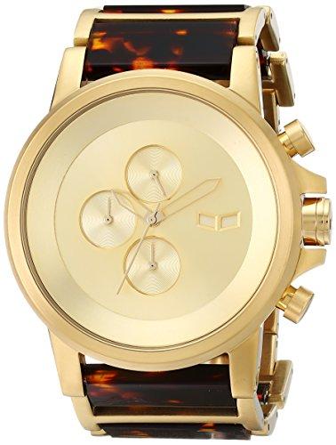 腕時計, メンズ腕時計  PLA022 Vestal Mens PLA022 Plexi Acetate Analog Display Japanese Quartz Gold Watch PLA022