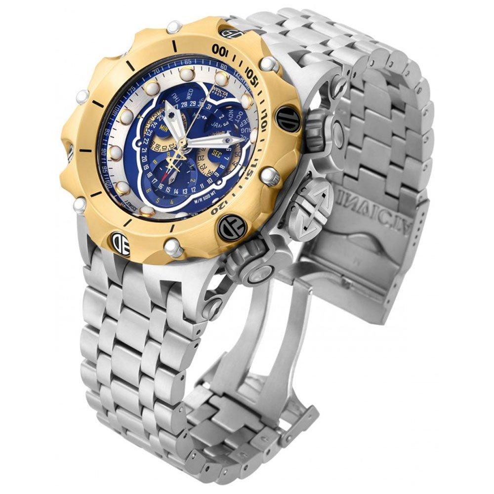 インヴィクタ インビクタ ベノム 腕時計 メンズ 16808 Invicta Venom Chronograph Blue Dial Stainless Steel Mens Watch 16808インヴィクタ インビクタ ベノム 腕時計 メンズ 16808