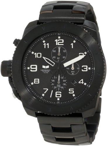 腕時計, メンズ腕時計  RES008 Vestal Mens RES008 Restrictor Black Ion Plated with White Lume Chronograph Watch RES008
