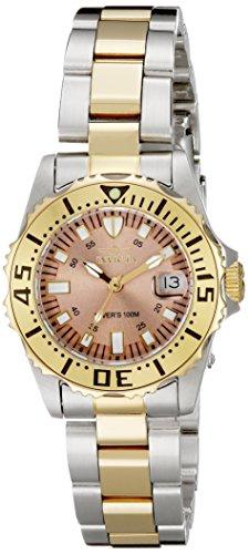インヴィクタ インビクタ プロダイバー 腕時計 レディース 14370 Invicta Women's 14370 Pro Diver Rose Gold Tone Dial Two Tone Stainless Steel Watchインヴィクタ インビクタ プロダイバー 腕時計 レディース 14370