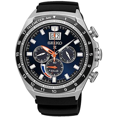 セイコー 腕時計 メンズ 夏のボーナス特集 SSC605 Seiko Men's 44.9mm Black Silicone Band Steel Case Sapphire Crystal Solar Blue Dial Analog Watch SSC605セイコー 腕時計 メンズ 夏のボーナス特集 SSC605