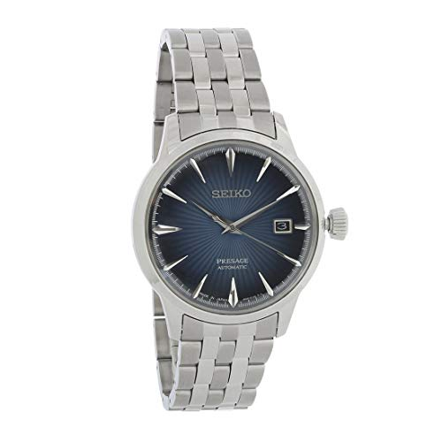 【当店1年保証】セイコーSeiko Men's Presage 23 Jewel Automatic Blue Dial Watch with Date