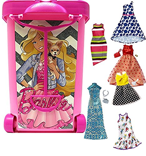 fd5eeb0d5a867 バービー バービー人形 着せ替え 衣装 ドレス Bundle Includes 2 Items - Barbie Store It All -  Pink and Barbie Fashions Dress Pack