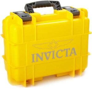腕時計 インヴィクタ インビクタ メンズ IG0098-RLC8S-Y 【送料無料】Invicta IG0098-RLC8S-Y 8 Slot Yellow Plastic Watch Box Case腕時計 インヴィクタ インビクタ メンズ IG0098-RLC8S-Y