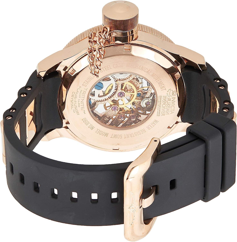 【当店1年保証】インヴィクタInvicta Men's 1090 Russian Diver Rose Gold-tone Stainless Steel Skeleton Watch