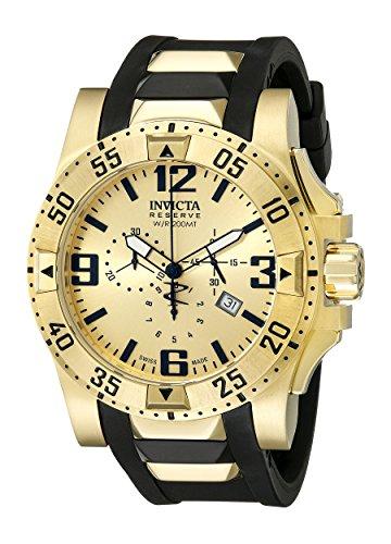 インヴィクタ インビクタ リザーブ 腕時計 メンズ INVICTA-6267 Invicta Men's 6267 Reserve Collection Chronograph Excursion Edition Gold-Plated Watch with Black Bandインヴィクタ インビクタ リザーブ 腕時計 メンズ INVICTA-6267