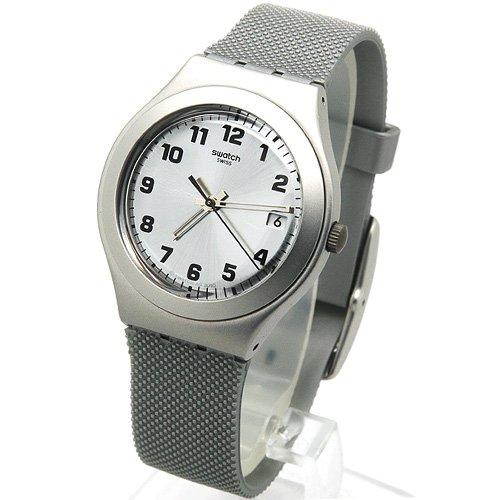 スウォッチ 腕時計 レディース YGS4032 Swatch Silver Effect Grey Silicone Ladies Watch YGS4032スウォッチ 腕時計 レディース YGS4032