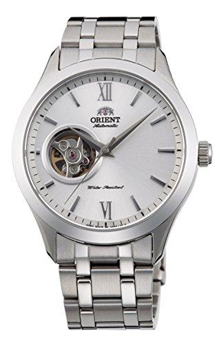 """オリエント 腕時計 メンズ ORIENT""""Golden Eyes 2"""" Classic Automatic Semi Skeleton Sapphire Glass Watch Silver Dial AG03001Wオリエント 腕時計 メンズ"""
