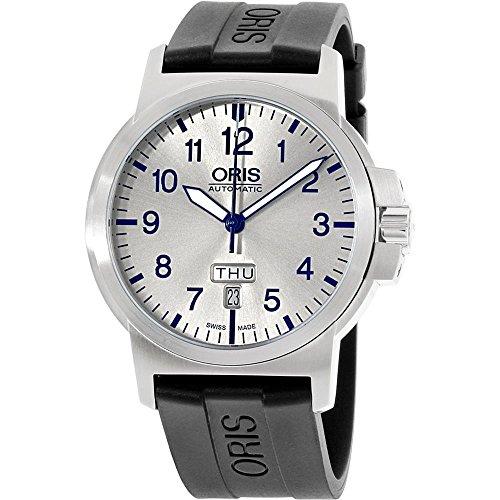 オリス 腕時計 メンズ 73576414161RS Oris BC3 Silver Dial Silicone Strap Men's Watch 73576414161RSオリス 腕時計 メンズ 73576414161RS