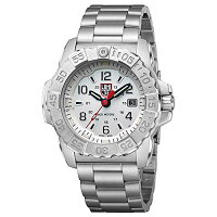 【当店1年保証】ルミノックスLuminoxMen's'SEA'SwissQuartzStainlessSteelCasualWatch,Color:Silver-Toned(Model