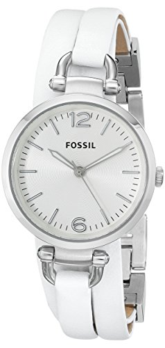 フォッシル 腕時計 レディース ES3246 Fossil Women's ES3246 Georgia Stainless Steel Watch with White Wrap-Around Leather Bandフォッシル 腕時計 レディース ES3246