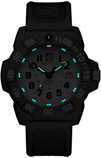 【当店1年保証】ルミノックスLuminoxMen's'SEA'SwissQuartzStainlessSteelandRubberCasualWatch,Color:Black(M